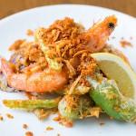 海鮮と野菜の波止場風スパイス炒め