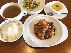 「揚げ豆腐の広東風五目煮込み」をメインにした、チャイニーズランチ