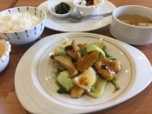 春野菜と柔らかい鶏胸肉の豆豉醬炒め