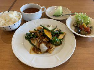 季節野菜と豚肉の甘辛炒め
