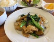 季節の野菜と国産鷄のマレーシア風炒め